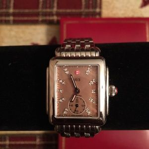 PRE-LOVED AUTHENTIC MICHELE DECO DIAMOND WATCH